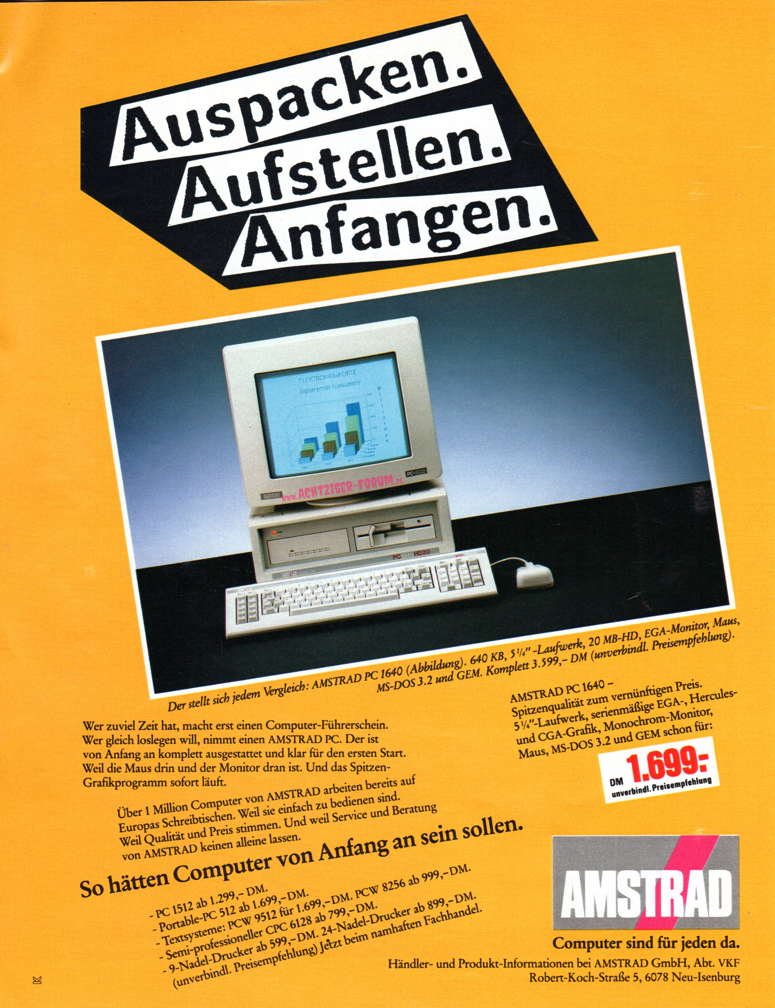 Amstrad (1988) - Achtziger-Forum